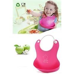Pink Pari Baby Silicone Bib / Waterproof Bid / High Quality Silicone Bib
