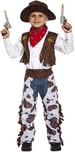 Jungen Kinder Cowboy Wilder Westen Sheriff Halloween Kostüm Kleid Outfit - Braun, 4-6 Years