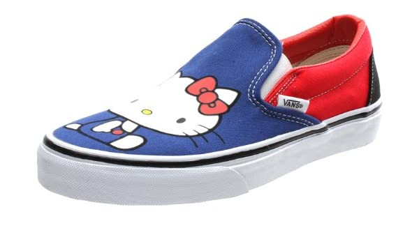 00dac7feac Vans Classic Slip On (Hello Kitty) Blue Red Womens Shoe QFD66W (UK8)   Amazon.co.uk  Shoes   Bags