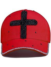 ECYC Gorras De BéIsbol Cross Crystal Rhinestone Gorra De Sol para Mujer  Gorra Snapback De AlgodóN d8523bf27e4