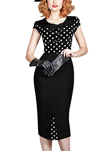 Sparkling YXB - Robe - Cocktail - Sans Manche - Femme Multicolore - Polka Dots