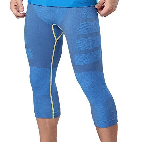 Nahtlose Compression Shorts (HuntDream Herren Compression Baselayer Hosen Legging Shorts Hemden Strumpfhosen Laufhosen)