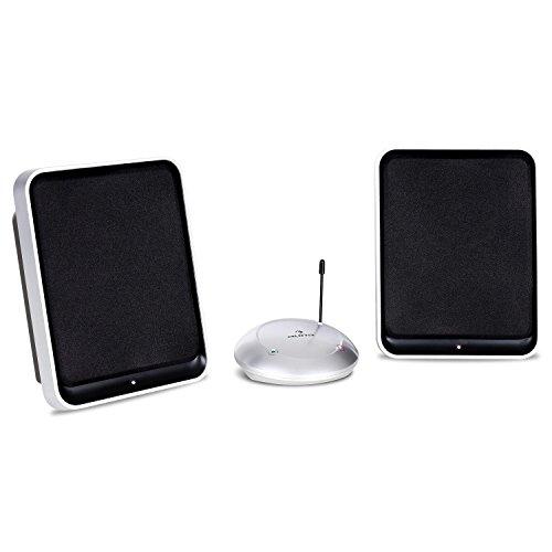 auna Loft 30 Funk Lautsprecher System UHF (2 x 200 Watt, 100 m Reichweite, kabellos) schwarz