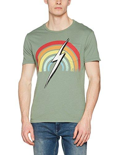Lightning Bolt L. BOLT Rainbow Pocket Tee SEA SPRAY -