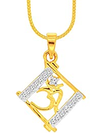Spargz New Fashion Gold Plated Brass Metal Pendant For Women