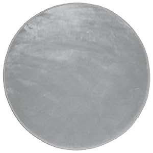 Douceur d'Intérieur - Tapis Velour Louna - Gris - 90 cm