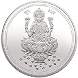 Modison Hallmarked 999 Pure Silver Coin Laxmi Coin For Dhanteras Diwali & For Any Auspicious Occasion 10 Grams Lakshmi Ji Silver Coin With High Quality Card Packing
