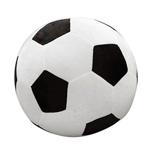 Lamdoo 25cm Fußball Form gefüllt Puppe Maskottchen Ball Fußball Plüsch Toy Kids Baby Geschenk Neu, Schwarz, 25 cm (Fußball Plüsch)