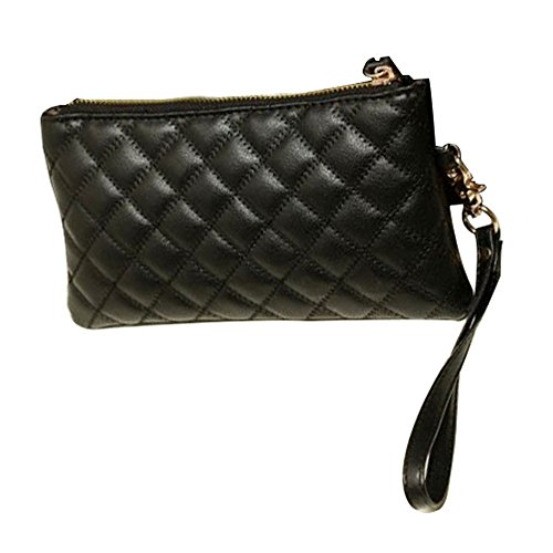 niceeshop(TM) Soft Synthetic Leather Women Wallet with a Wristlet,Black