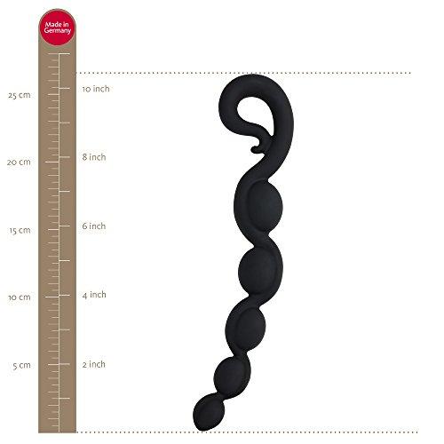 Fun Factory BENDYBEADS schwarz Analkette für Anfänger aus Silikon (inklusive Tasche + Gleitgel) - 5