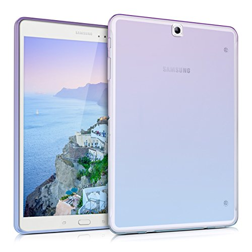 kwmobile Funda compatible con Samsung Galaxy Tab S2 9.7 - Carcasa {trasera} para tablet de {TPU} - En {violeta / azul / transparente}