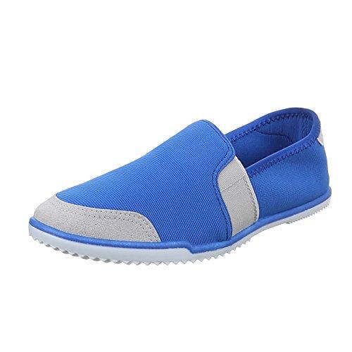 486 Sapatos Azul Deslizador y Sapatos Baixo Senhoras xwznx