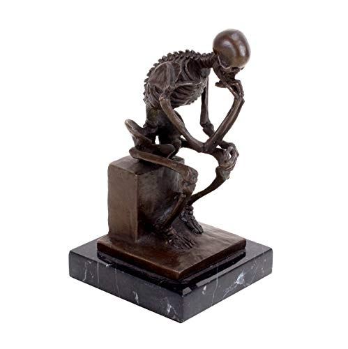 Kunst & Ambiente Moderno Bronce Esqueleto/Escultura–el