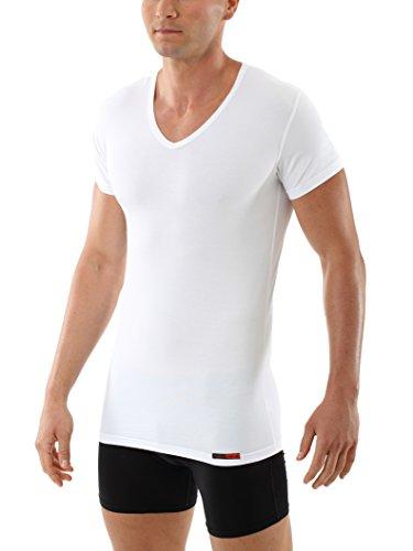 Albert Kreuz V-Unterhemd Business Herrenunterhemd aus Stretch-Baumwolle Kurzarm weiß 7/XL (Stretch-baumwolle Unterhemd)