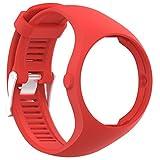 squarex Ersatz-Uhrenarmband aus weichem Silikon für Polar M200 Fitness-Armbanduhr, Damen, rot, AS Show