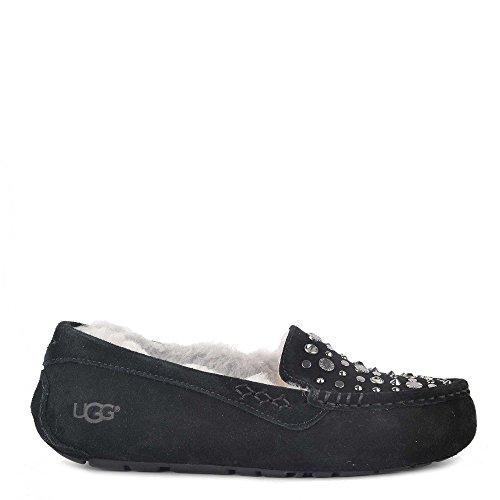 UGG Scarpe Ansley Pantofola in Camoscio Nero Donna Nero