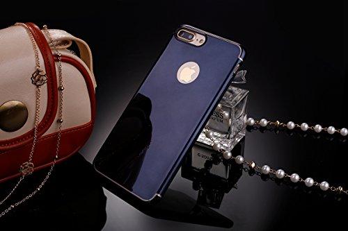 Coque iPhone 7 Plus,Étui iPhone 7 Plus,iPhone 7 Plus Case,ikasus® iPhone 7 Plus Housse Coque Miroirs TPU silicone miroir Étui / TPU miroir Étui Housse Silicone Étui Téléphone Couverture TPU avec brill Noir