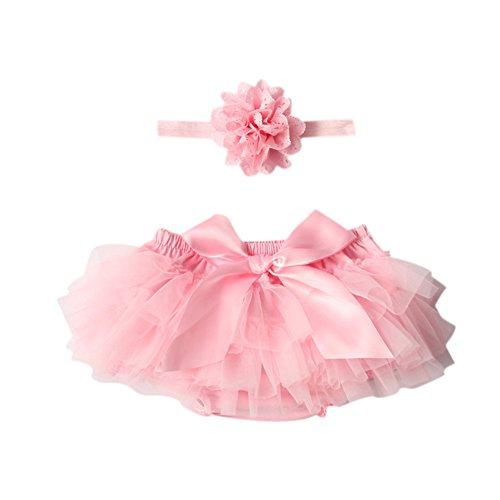 Tutu Skirt + Flower Headband JXUFF Newborn Baby Girl Prop Costume Photo Photography