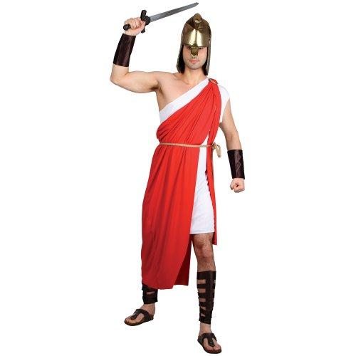 (Römischer Griechischer Krieger Männer Verkleidung Halloween Fasching Kostüm L)