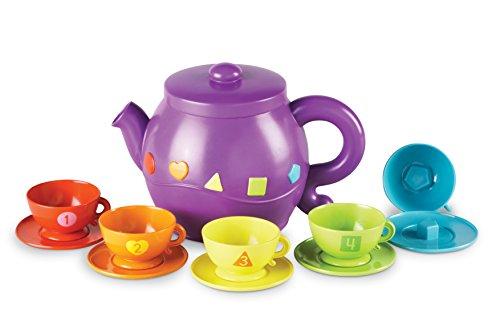 Learning Resources Serving Shapes Tea Set Service à thé avec Formes, LER7740