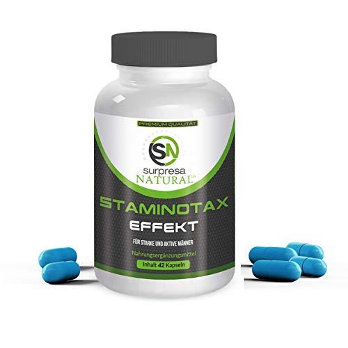 STAMINOTAX | Für aktive Männer | Alternative zu Potenzmittel | 42 hochdosierte Kapseln | Premium Qualität aus Deutschland