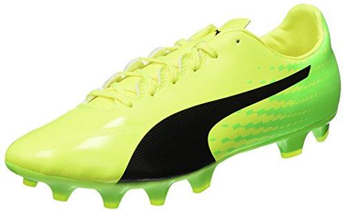 Puma Evospeed 17.2 Fg, Chaussures de Football Homme Jaune (Safety Yellow-puma Black-green Gecko 01)