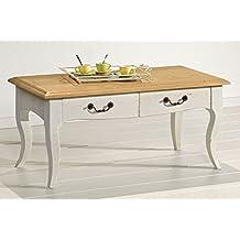 Amazon.fr : table basse chene massif tiroir