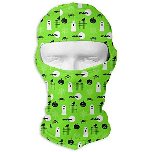 Voxpkrs Outdoor Sports Full Face Masks Halloween Pumpkin Spider Web Green Balaclava Hood ()