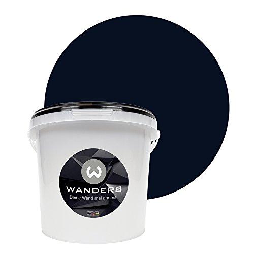 Wanders24 Tafelfarbe (3Liter, Schwarz) matte Wandfarbe in 20 Farbtönen erhältlich, individuelle Gestaltung für Zuhause, Farbe made in Germany