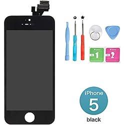 """New Sign Kit de Réparation Ecran LCD pour iPhone 5, Retina Vitre Tactile Display Complet pour iPhone 5 (4.0"""") avec Outils de Réparation - Noir"""