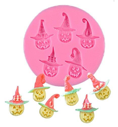 Inception Pro Infinite Silikonform für den Nahrungsmittelgebrauch von 6 Halloween-Kürbisen - Zuckerpaste - Fluxes - Kuchen - Pfannkuchen - Muffins - Dekorationen