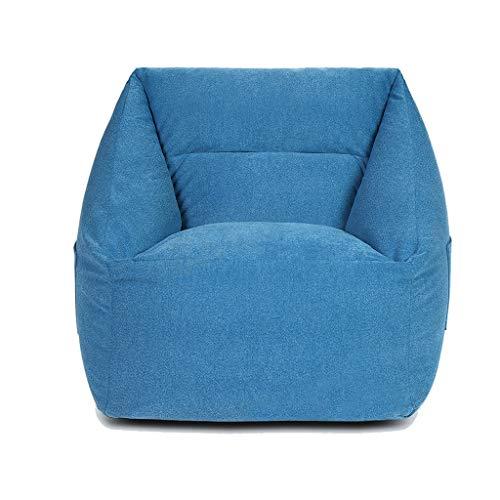 Divano pigro tatami beanbag single bedroom lazy sofa moderna mini piccola lounge chair, sedia da gioco, sedia da terra (colore : blu scuro)