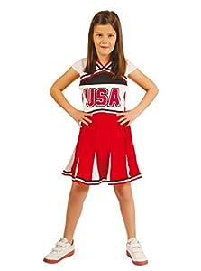 Guirca - Disfraz de animadora con vestido, para niños de 10-12 años, color rojo (82792)