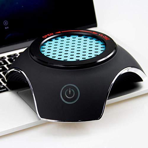 YUN Car@ Auto Luftreiniger Air Purifier mit HEPA & Aktivkohlefilter für Allergiker, Desktop-USB-Luftreiniger Ionisator perfekt für Büro Desktop und Schlafzimmer (20x 18.5X 6cm),Black