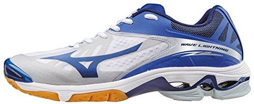 Mizuno Wave Lightning Z2, Chaussures de Volleyball Homme, Bleu/Blanc/Vert Bianco (White/Dazzlingblue/Twilightblue)