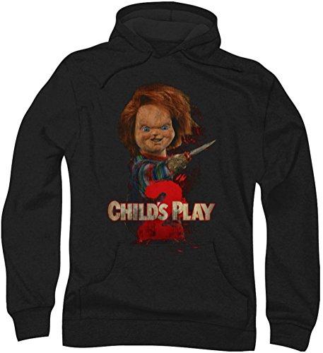 Childs Play-Ecco Chucky-Felpa con cappuccio da uomo Nero