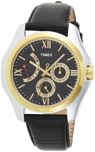 Timex E-Class Analog Black Dial Men's Watch - TI000Q20100 image