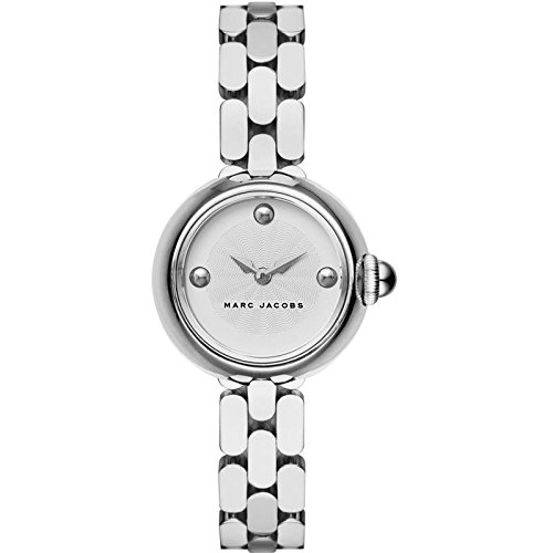 Marc Jacobs Women's Quartz Watch with Silver Dial Analogue Display and Silver Stainless Steel Bangle MJ3456