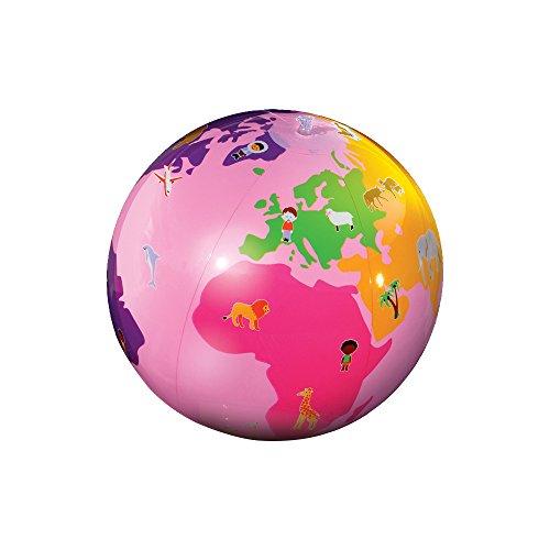 Caly - Globo del mundo, 38 cm, color rosa (Mapiberia CAGL38RO)