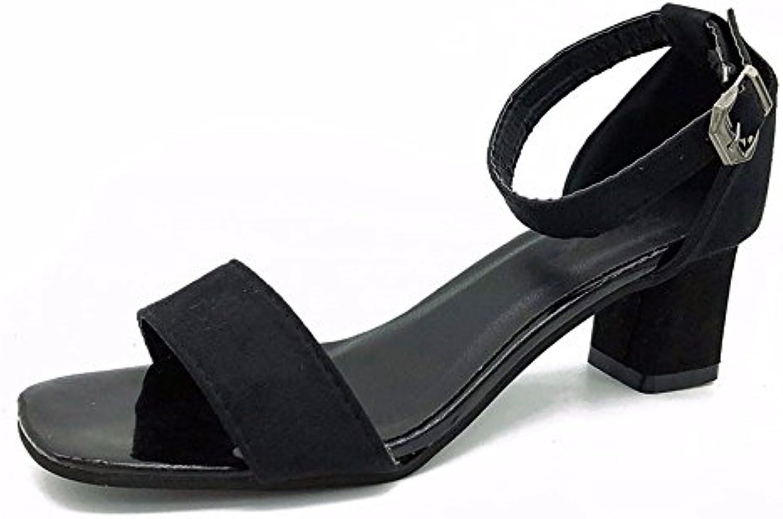 5c70afdbe AN Womens Platforms-Sandals Solid Mule Urethane Platforms Sandals DIU01172  B07FZ2JKY3 Parent