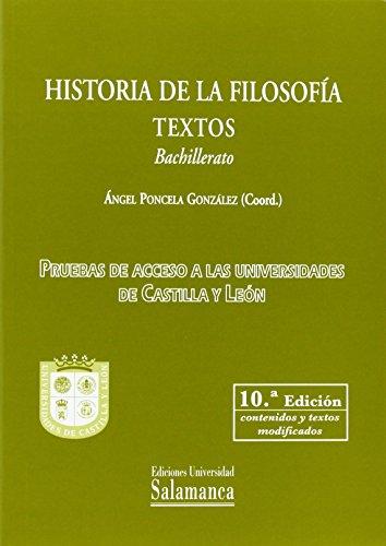 HISTORIA FILOSOFIA.TEXTOS-BACHILLERATO (10/E)