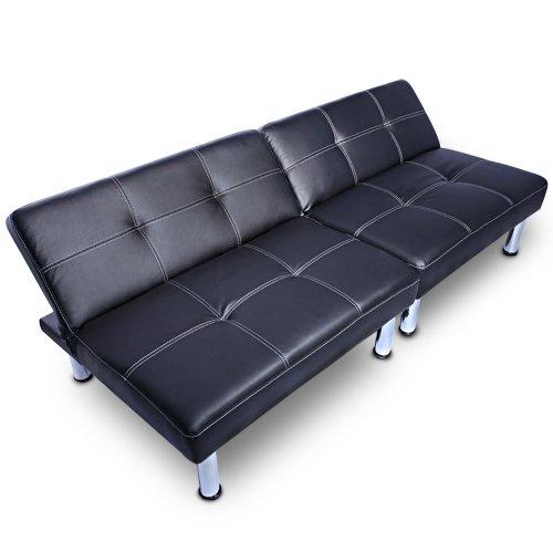 Hochwertige Schlafcouch Lounge Schlafsofa in Schwarz