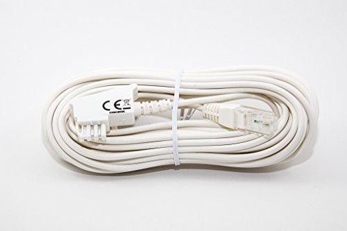 dsl telefon kabel COXBOX 10m Weiss VDSL ADSL Kabel für den IP basierten DSL Anschluss TAE RJ45 VoiP Fritzbox Speedport