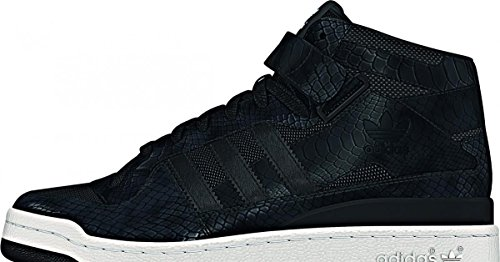 Adidas Forum Mid RS Mens Hi Top Trainers CBLACK/FTWWHT/CBLACK B26384
