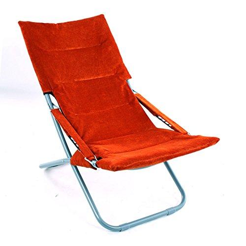 QIDI Chaise Longue Simple Pliable en métal haut-122cm (Couleur : Style 1)