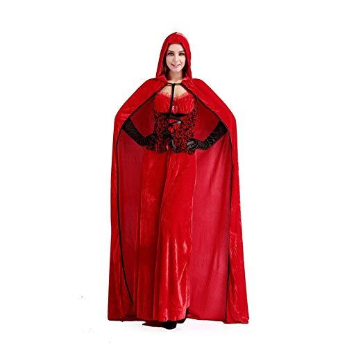 ZSDFGH Elfen-Kostüm Weihnachtskostüm - Wichtel Weihnachtself Kostüm Für Damen, Herren Kinder - Perfekt Für Weihnachten, Karneval Cosplay,Red-M (Mrs Claus Kostüm Kinder)