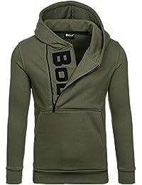 BOLF Herren Kapuzenpullover Sweatshirt Hoodie Pullover Sweatjacke Sportsweastshirt Mix 1A1
