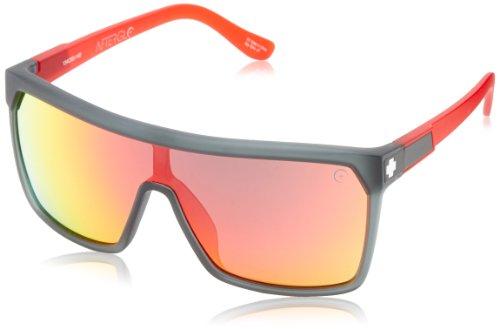 Spy Sonnenbrille Flynn, Grey W/ Red Spectra, One size, SPYGLA_FLY (Sonnenbrille Rot Spy)