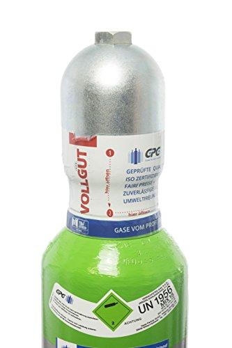 Schutzgas 18 / Neue 10 Liter Flasche/Schweißgas zum MAG Schweißen/Mischgas 18 / NEUE Gasflasche (Eigentumsflasche), gefüllt mit CO2(18%) & Argon (82%) / 10 Jahre TÜV ab Herstelldatum/Gobalimport