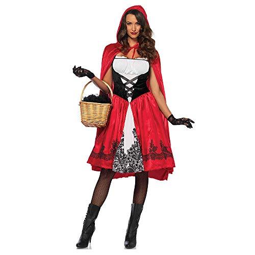 CNHK Damenbekleidung, Halloween-Damenbekleidung, Mantel-Rotkäppchen-Kostüm, Spiel-Anime-Cosplay,XL